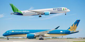 Bamboo Airways và Vietnam Airlines bay thẳng Việt Nam – Mỹ