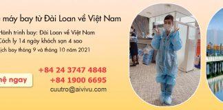 Mở bán vé máy bay từ Đài Loan về Việt Nam