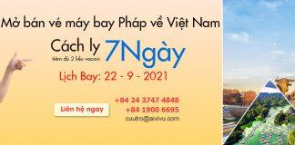 Chuyến bay charter từ Pháp về Việt Nam cách ly 7 ngày