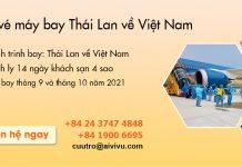 Lịch bay chuyến Thái Lan về Việt Nam