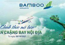 Bamboo Airways mở bán 31 đường bay nội địa từ 20/10