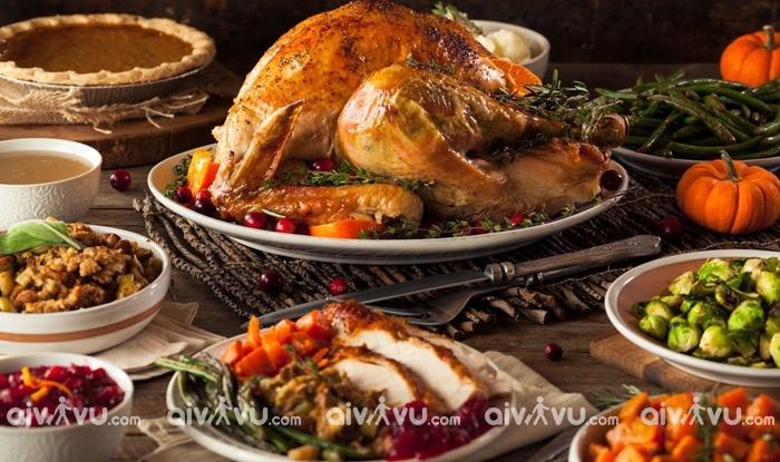 Món ăn truyền thống trong ngày Lễ Tạ ơn