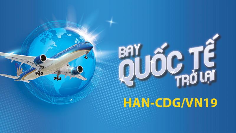 Lịch khai thác chuyến bay Hà Nội – Paris mới nhất