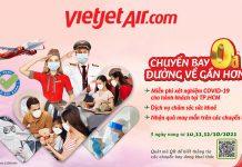 Khuyến mãi vé máy bay 0 đồng đường về gần hơn cùng Vietjet