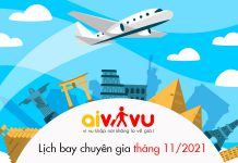 Lịch bay chuyên gia về Việt Nam tháng 11