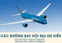 Vietnam Airlines, Pacific Airlines dự kiến khôi phục toàn bộ đường bay nội địa